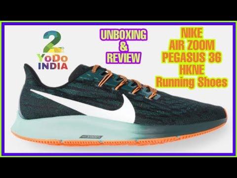 unboxing-nike-men-black-&-green-air-zoom-pegasus-36-hkne-running-shoes-|-myntra-|-2yodoindia-reviews