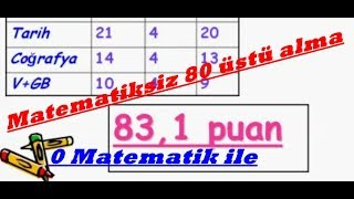 Kpss'de Matematiksiz 80 üstü nasıl alınır?(Önlisans ve ortaöğretim için)