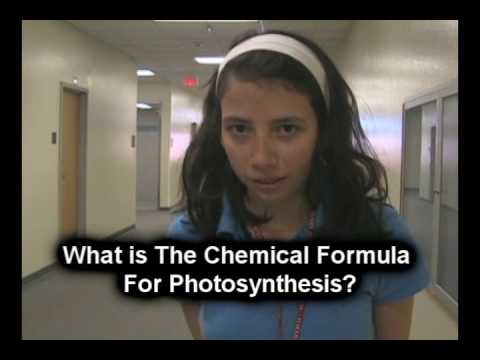 CAMPUS QUESTION: What is the Chemical Formula For Photosynthesis?