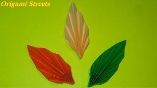 Как сделать листья из бумаги. Оригами листик