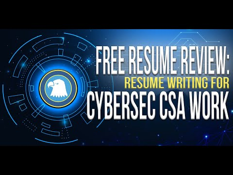 Cybersecurity Resume Review for SCA work