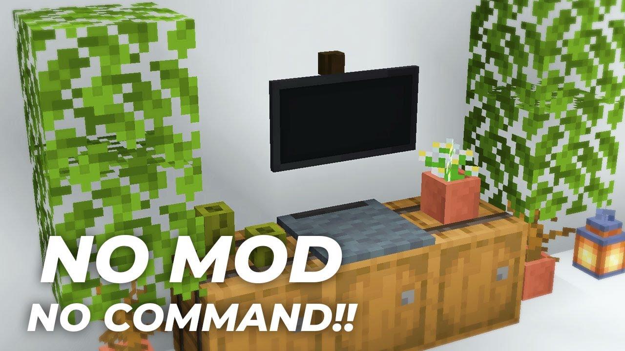 【マイクラ家具】MOD・コマンドなし!テレビの作り方(統合版対応)