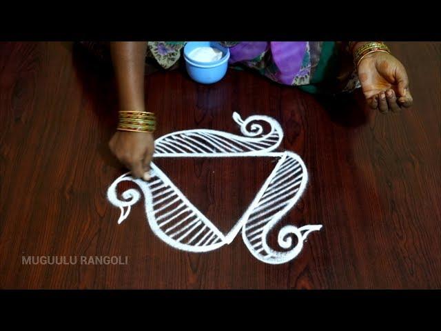 simple and easy muggulu easy pulli kolam easy pulli kolangal best easy rangoli design easy kolangal