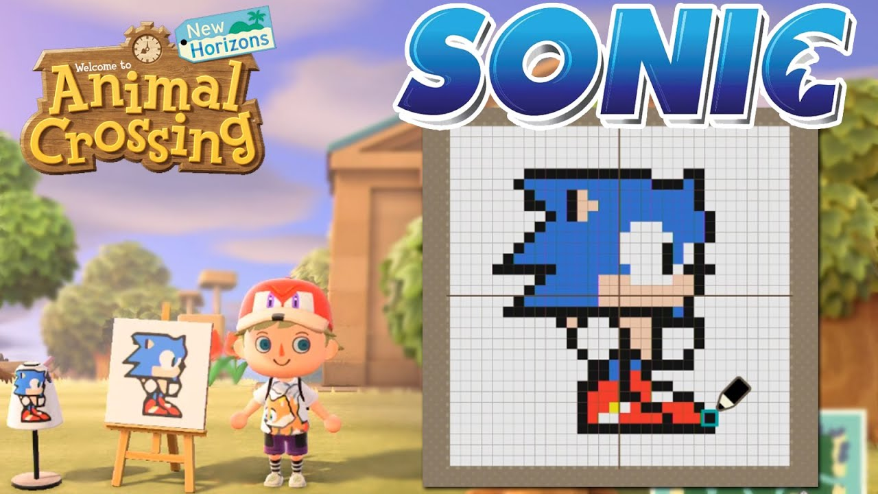 Animal Crossing New Horizons Custom Sonic Designs Sonic Tails Shirts Knuckles Hat Youtube