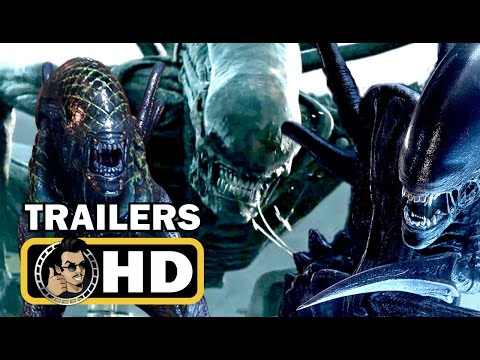 ALIEN 1-5 Complete Franchise TRAILER Compilation (1979-2017) Sigourney Weaver Sci-Fi Horror HD