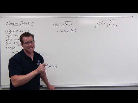 Finding the Domain of Functions (Precalculus - College Algebra 4)