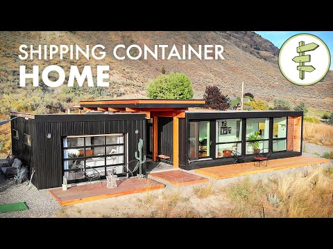 Living in an Ultra-Modern Shipping Container Home - Built with 4 x 20ft Used Containers