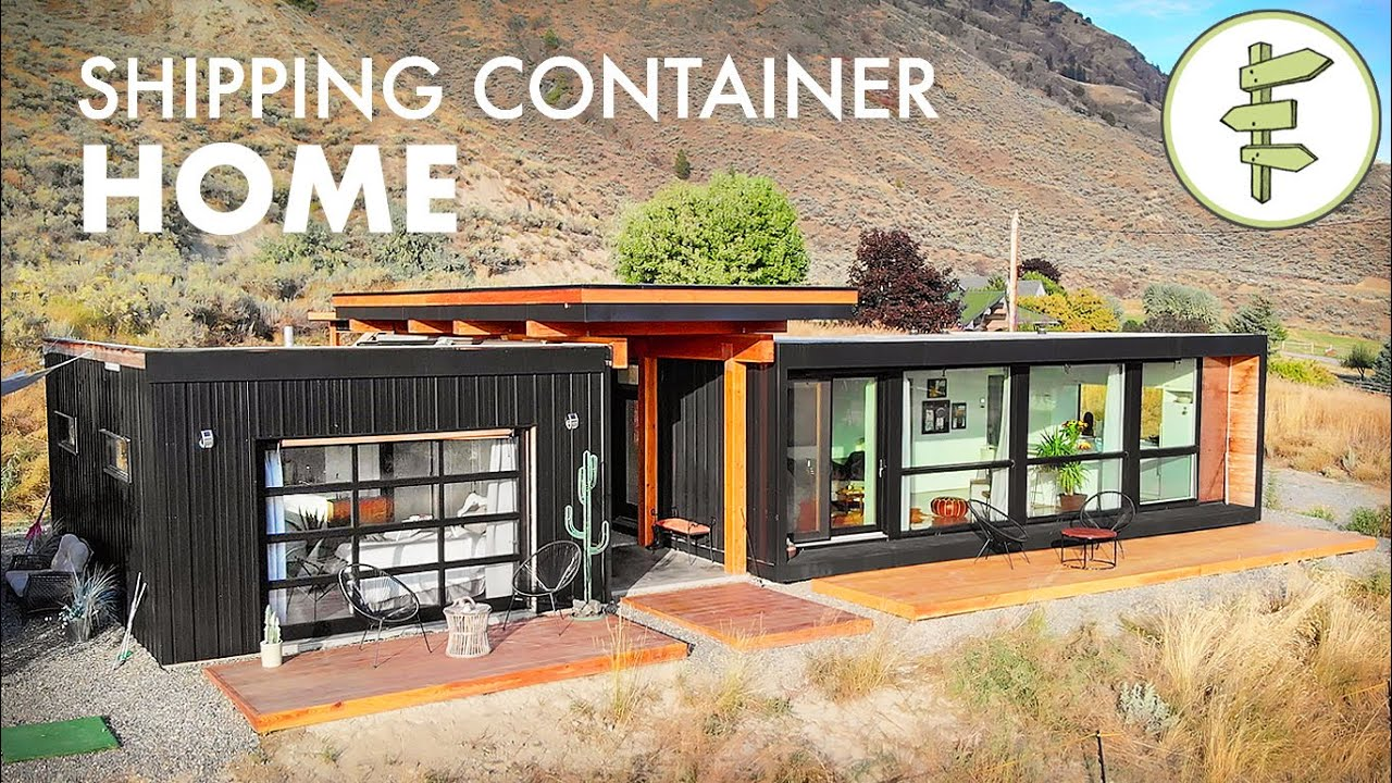 Download Living in an Ultra-Modern Shipping Container Home - Built with 4 x 20ft Used Containers