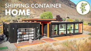 Living in an UltraModern Shipping Container Home  Built with 4 x 20ft Used Containers