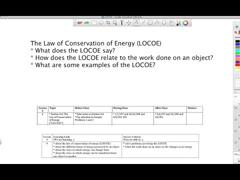Law of Conservation of Energy - Grade 12