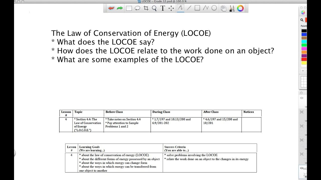 Law Of Conservation Of Energy Grade 12 Youtube