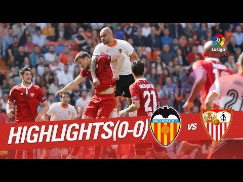 Resumen de Valencia CF vs Sevilla FC (0-0)