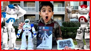robot toys for kids with remote control unboxing and review video of best rc robot toy 2019