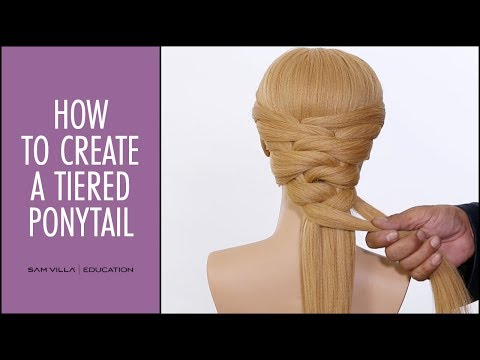 How To Create A Tiered Ponytail (Stacked Ponytail)
