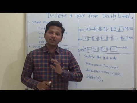 Delete a node from Doubly Linked List(start / middle/ end node)