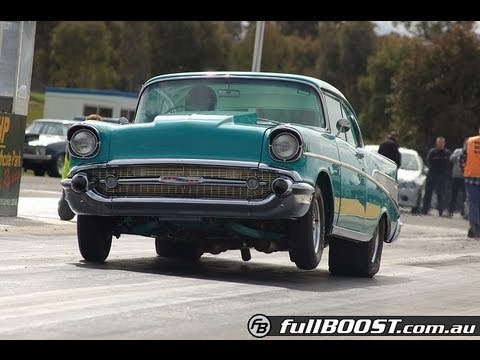 Supercharged 57 Chevy - Great sound