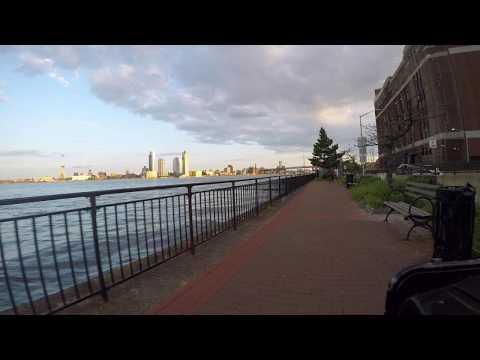 #bikingwithbliss around the bottom of Manhattan at sunset on a Citi Bike
