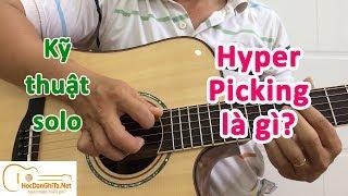 Hướng dẫn kỹ thuật Hybrid Picking với 2 câu lick đơn giản - học đàn guitar online miễn phí