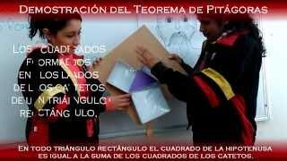 Teorema de Pitágoras (Demostracion en maquetas del Teorema de Pitágoras)
