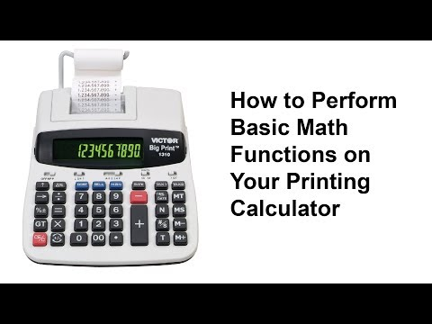 How to Perform Basic Math Functions on Your Printing Calculator