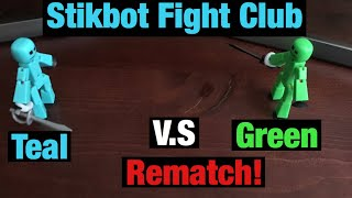 Stikbot Fight Club 5 | Teal v.s Green (Rematch) | #Stikbot