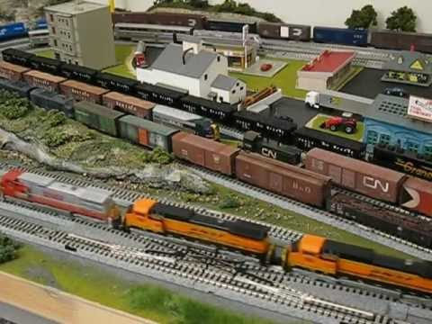 N Scale Kato Locomotives Pulling Freight On Reliable