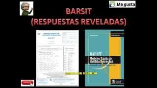 BARSIT examen psicometrico que aplican en las empresa, SECRETOS REVELADOS