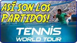 TENNIS WORLD TOUR - Así son los PARTIDOS! (y Comento mi experiencia en PS4)