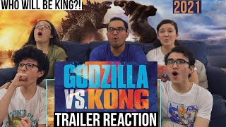 GODZILLA VS KONG Trailer REACTION! || MaJeliv Reactions | Who Will be KING?!