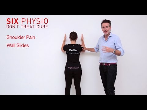 Shoulder exercises wall slides