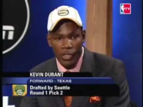 The 2007 NBA draft- Kevin Durant- PICk NO.2