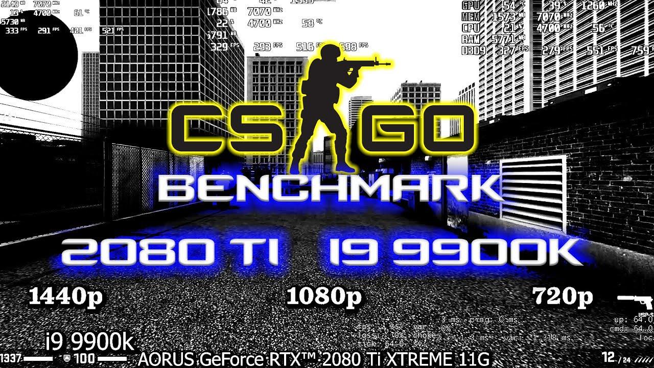 CS:GO RTX 2080 TI Benchmark | CS:GO FPS i9 9900k Benchmark
