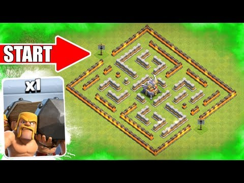 Thumbnail: 1 TROOP vs 1 WEIRD BASE!! 🔥 Clash Of Clans 🔥 Clashiversary Troop Challenge!