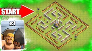 1 TROOP vs 1 WEIRD BASE!! 🔥 Clash Of Clans 🔥 Clashiversary Troop Challenge!