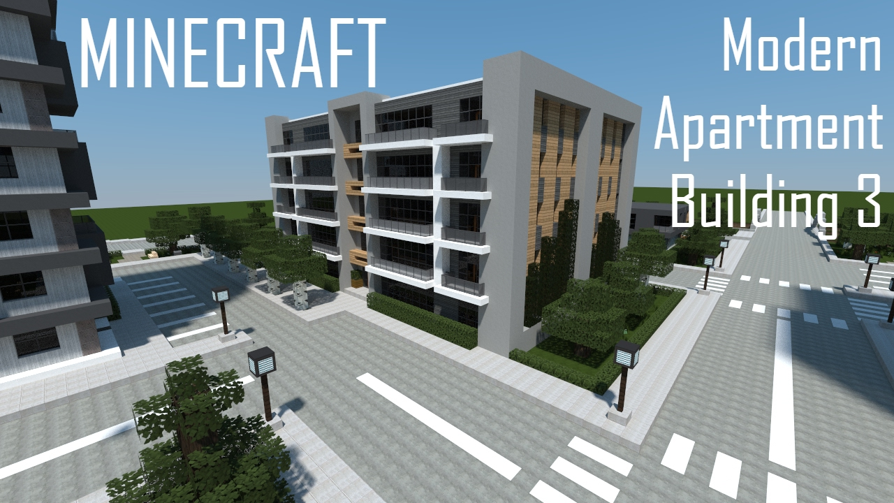 Minecraft Modern Apartment Building 3 (full Interior) + Download