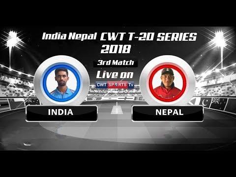CWT T20 SERIES 2018 INDIA VS NEPAL Mulpani Cricket Stadium KATHMANDU NEPAL 3rd Match