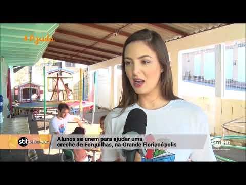 Alunos se unem para ajudar creche de Forquilhas, na Grande Florianópolis