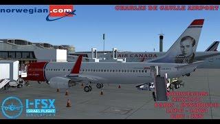 FSX PARIS - INNSBRUCK NORWEGIAN AIRLINES PMDG 737-800