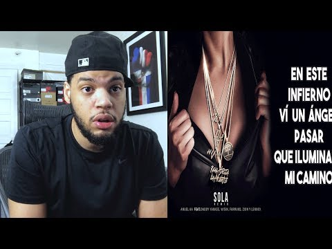 Anuel AA - Sola Daddy Yankee Farruko Zion  Lennox y Wisin Remix Lyric Video - Sola Remix Reaccion