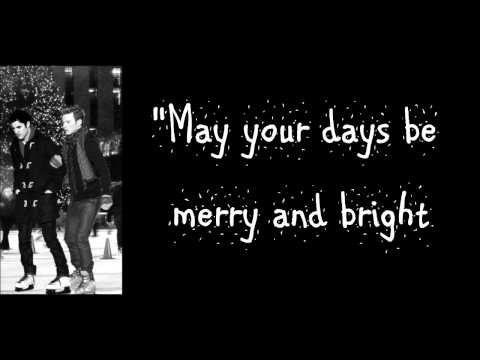 Glee - White Christmas (Lyrics) HD