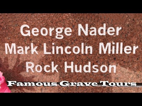 FAMOUS GRAVE TOUR: Actors Rock Hudson And George Nader's Cenotaphs At Forest Lawn Cathedral City, CA