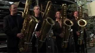 helter skelter beatles played by deep schrott bass sax quartet