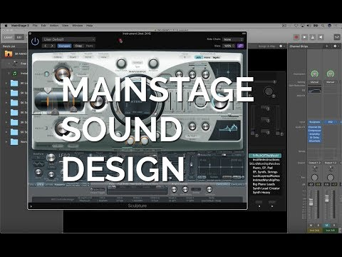 MainStage Sound Design Screenshare- Designing the Free MainStage Patch of the week