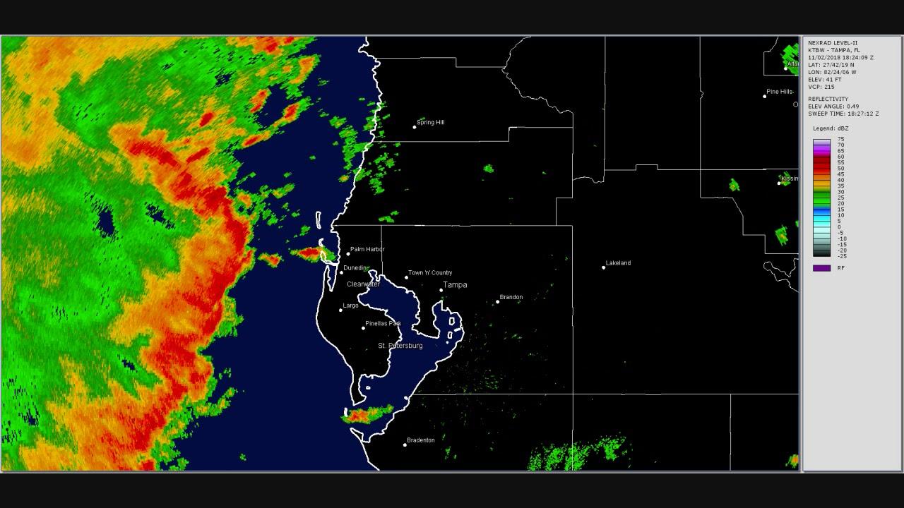 Doppler Radar Tampa Bay Severe Weather November 2 2018 Youtube