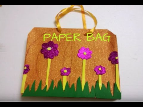Pretty Paper Bag For Kids Video Tutorial Youtube