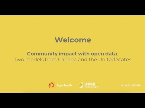 "Webinar recording: ""Community impact with open data"""
