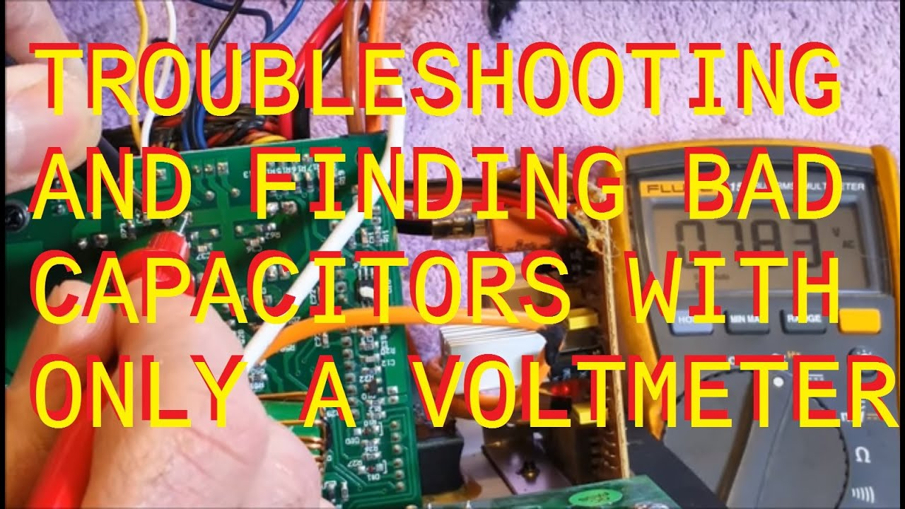 Monitor Audio Rsw12 Repair Finding Bad Capacitors With A Volt Meter How To Test Of Non Working Circuit Board Using Capacitor