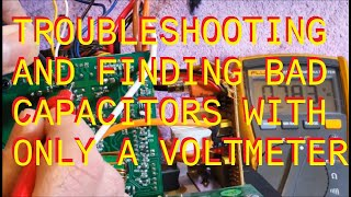 Monitor Audio RSW12 Repair. Finding Bad Capacitors With A Volt Meter