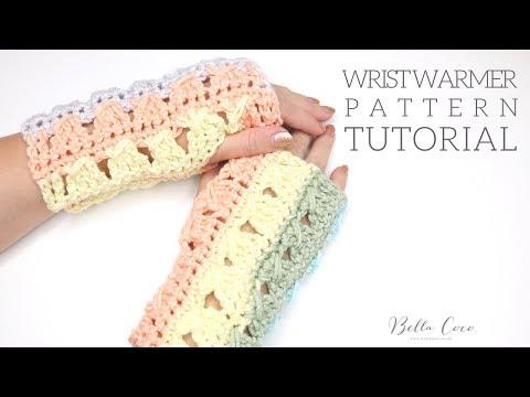 CROCHET: Wrist warmers | Pattern follow along | Bella Coco