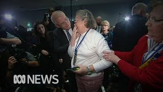 Woman knocked over during ScoMo egging says she didn't know what had happened | ABC News